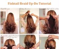 Fishtail Braided Updo Hair