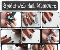 DIY Spider Web Nail Tutorial