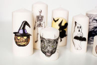 DIY Decorative Halloween Candles