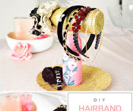 Pretty DIY Hairband Storage