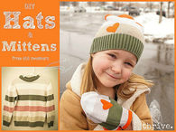 DIY Hats and mittens from old sweater