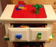 Lego table homemade christmas gift