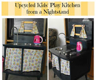 Kids kitchen from a nightstand