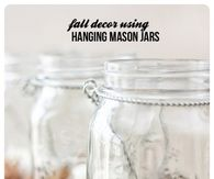 DIY Fall Decor Hanging Mason Jars