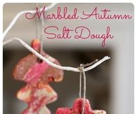 Marbled autumn salt dough