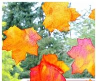 Fall window art leaf suncatchers