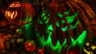 Green glow jack o lantern