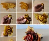 DIY Beautiful Maple Leaf Rose