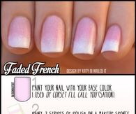 DIY Faded French Nails