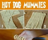 DIY Hot Dog Mummies