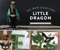 DIY No Sew Halloween Dragon Costume