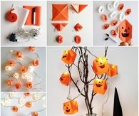 DIY Origami Pumpkin Lights