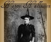 Happy Halloween Vintage Witch