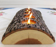 Tea Light Log Candle