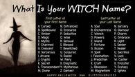 What is your witch name