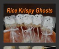 Halloween Rice Krispy Treat Ghosts