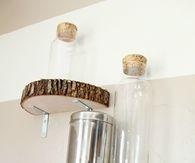 DIY Wooden Slice Shelves