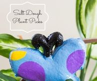 Salt dough plant picks