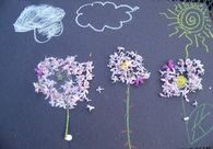 Kids flower art and nature