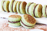 Chocolate mint french macaroons