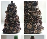 DIY Pine Cone Tree