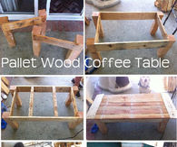 DIY Pallet Wood Coffee Table