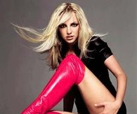 Britney Spears in Hot Pink Over-the-Knee Boots