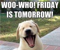Woo who! Friday is tomorrow