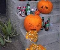 Drunk Barfing Pumpkin
