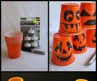 Paper Cup jack O Lanterns