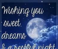 Wishing you sweet dreams