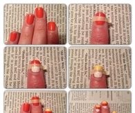 DIY Candy Corn Nails