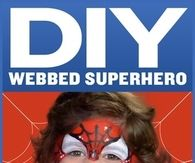 DIY Webbed Super Hero Makeup