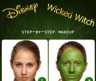 DIY Disney Wicked Witch Halloween Makeup