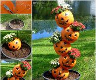DIY Tipsy Halloween Planters