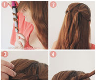 DIY Heart Bun