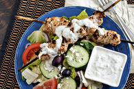 Grilled chicken tzatizki salad