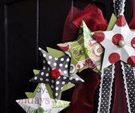 Paper star wreath tutorial