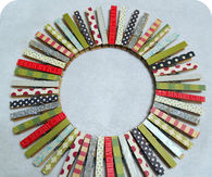 Clothespin Christmas Wreath