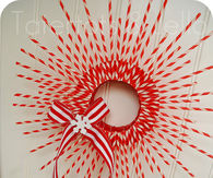 Christmas Striped Straw Wreath