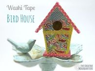 Washi Tape Birdhouse