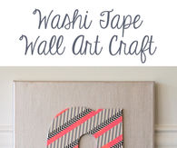 Washi Tape Wall Art Craft