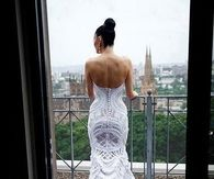 Beautiful White Lace Wedding Dress