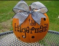 Personalized with Family Name Pumpkin