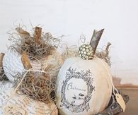 French Paper Mache Autumn Pumpkins