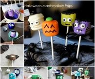 DIY Halloween Marshmallow Pops