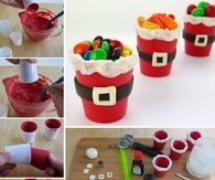 DIY Santa Candy Cups