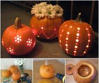 DIY Drilled Pumpkin Tutorial