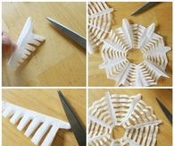 DIY Paper Spider Web