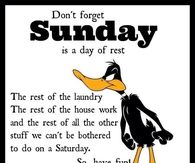 Sunday is a day of rest